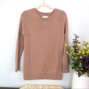Equipment cashmere blend taupe tan crew neck